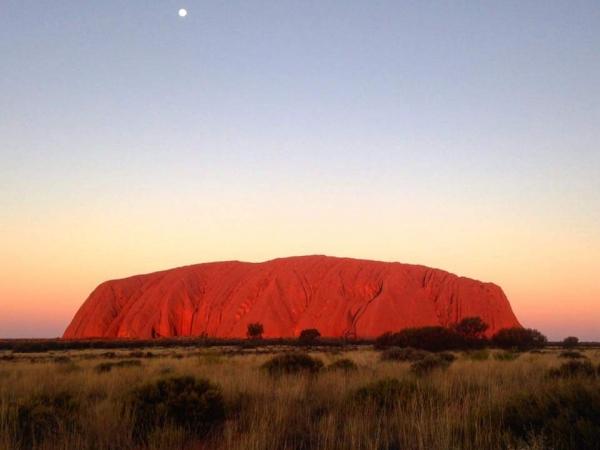 Coucher de soleil à Uluru
