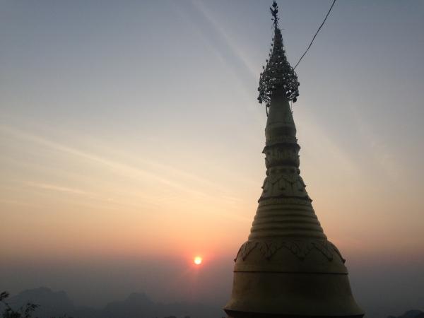 Lever de soleil sur le mont Zwebagin