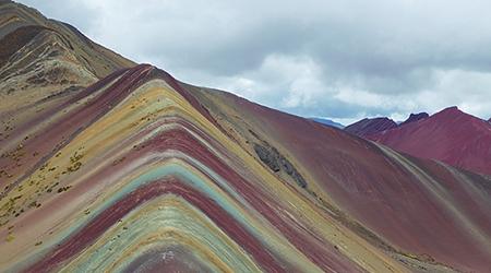 La Rainbow Mountain et sa vallée rouge